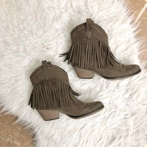 Forever 21 fringe cowboy boots